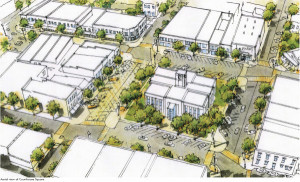 Winchester Downtown Renovation Aerial-View
