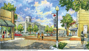 Winchester Downtown Renovation Courthouse View